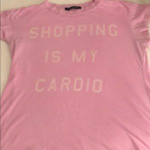 "WILDFOX ""shopping in my cardio"" soft tee"